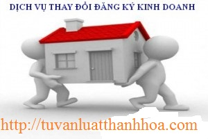 Thủ tục thay đổi đăng ký kinh doanh tại Thanh Hóa