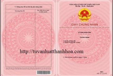 Dịch vụ cấp sổ đỏ mới tại Thanh Hóa