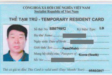 Thẻ tạm trú có thời hạn bao lâu cho người nước ngoài khi đăng ký tạm trú tại Thanh Hóa